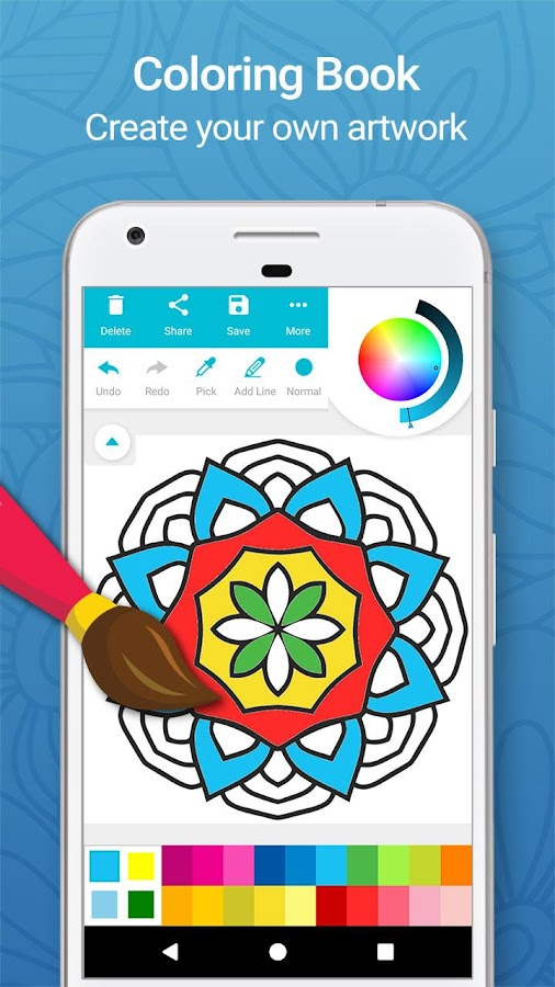 coloring book for adults free screenshot