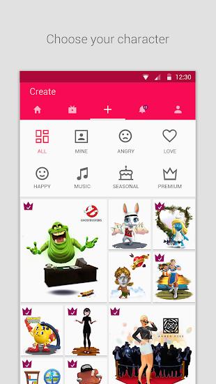 Zoobe - cartoon voice messages- screenshot thumbnail