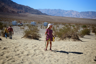 Photo: Ada at the Stovepipe Wells sand dunes
