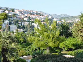 Photo: View from our balcony - really nice houses with red roofs clinging to the hillsides.