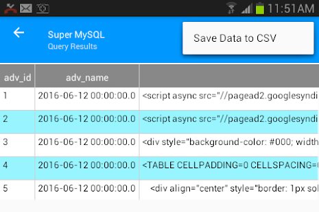 Super MySQL- screenshot thumbnail