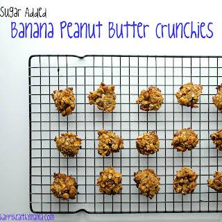 Sugar Free Banana Peanut Butter Cookies.
