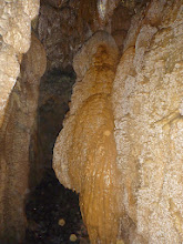 Photo: Flowstone near the entrance toward the exit we took