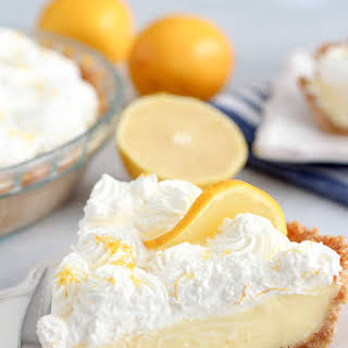 Lemon Cream Pie with Graham Cracker Crust.