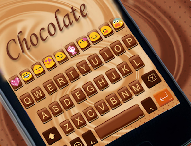 Chocolate Love Emoji Keyboard screenshot 4