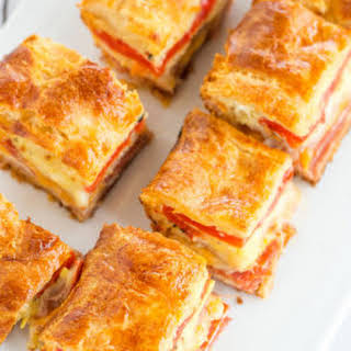 Antipasto Appetizer Squares.