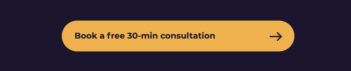 Book a free 30-min consultation golden-yellow button on a violet background.