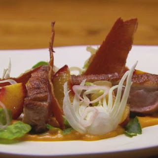 Duck With Peaches Three Ways