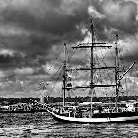 Tall Ships by Garry Fenton - Transportation Boats