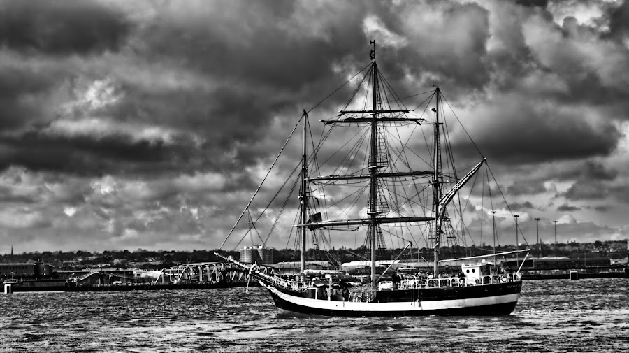 Tall Ships by Garry Fenton - Transportation Boats