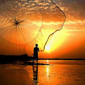 Fisherman by Bob Khan - People Street & Candids (  )