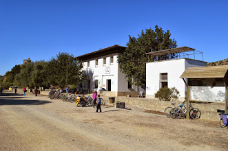 Photo: Zaframagón train station - a visitor's centre and bird-watching post.