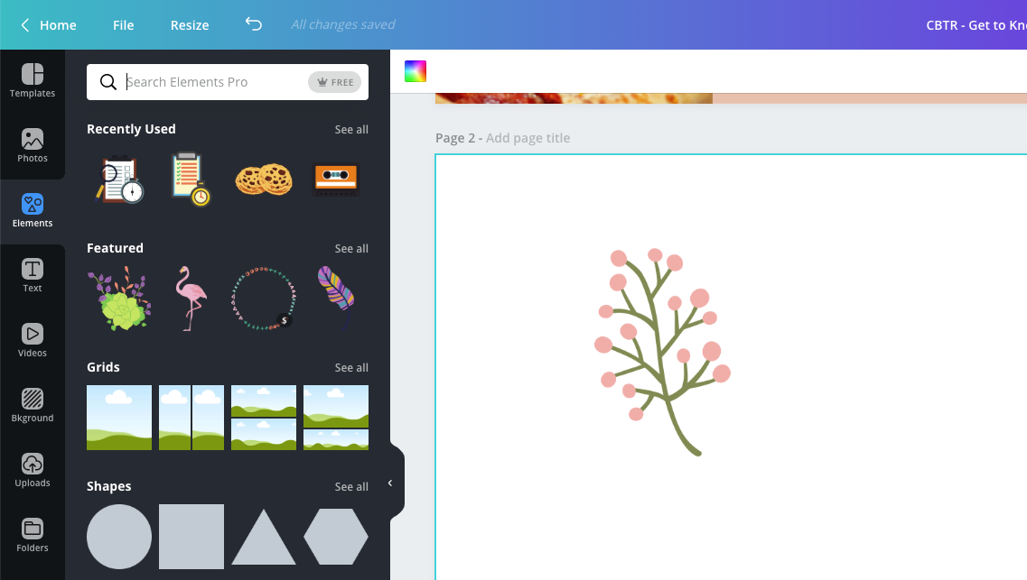 Export an icon from Canva Step 2