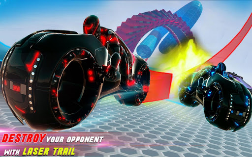 Tron Bike Stunt Racing 3d Stunt Bike Racing Games 101 gameplay | by HackJr.Pw 9
