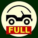 Inclinometer, speedometer, navigator travel tools icon
