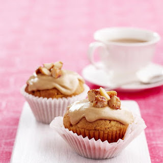 Butterscotch Cupcakes with Coffee Icing.