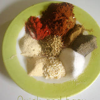 Quick and Easy Homemade Taco Seasoning Mix.