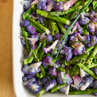 Roasted Cauliflower & Asparagus Salad.