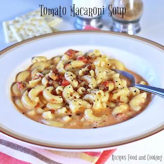 Quick Tomato Macaroni Soup Recipes.