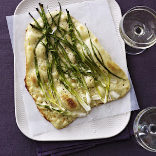 Flatbreads with Sour Cream and Spring Onions