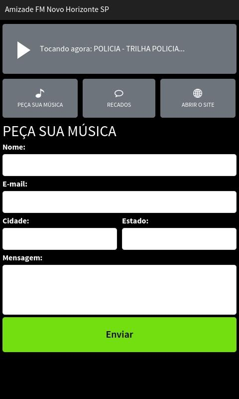 Amizade FM Novo Horizonte SP- screenshot