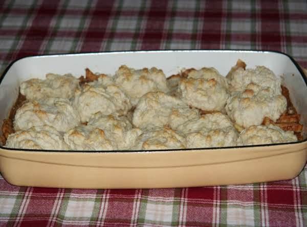 Jicama Apple Cobbler Bake