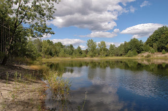 Photo: Reflections of clouds in the Connecticut River, Wilgus State Park