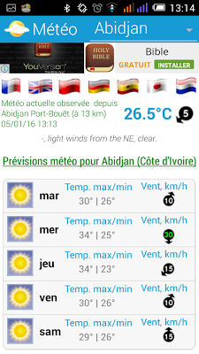 Météo Côte D'Ivoire - screenshot