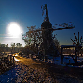 Mill by BertJan Niezing - Buildings & Architecture Public & Historical ( mill, winter, holland, snow, view, pwchollidays )