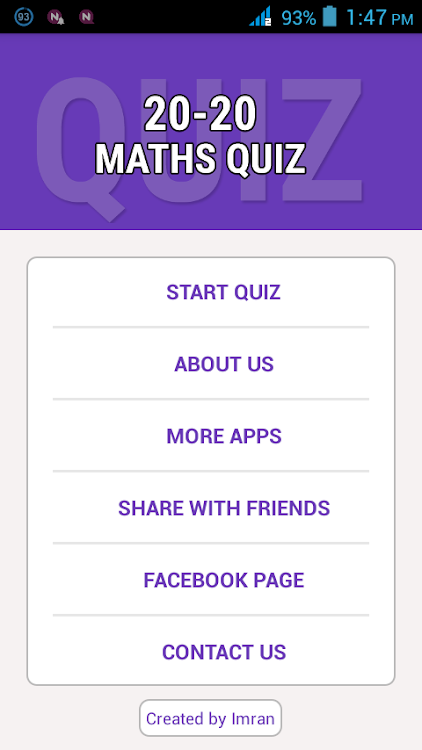 20-20 Maths Quiz – (Android Apps) — AppAgg