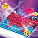 Pink Neon Keyboard GO icon