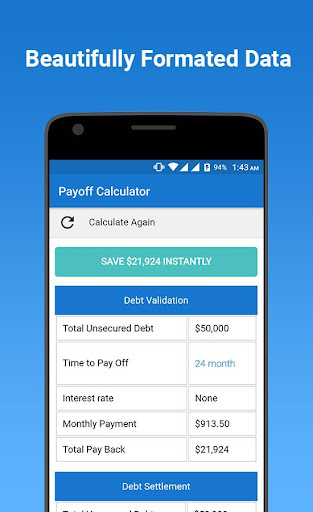 download credit card debt payoff calculator google play softwares
