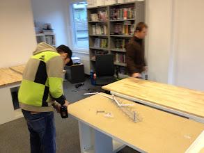 Photo: Hardwrk-André & Thomas sind schon kräftig dabei...