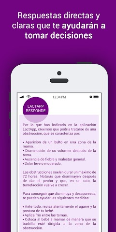 android LactApp Consultas de lactancia Screenshot 2