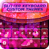Glitter Keyboard Custom Themes