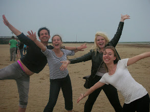 Photo: Playing on the beach at the hostel