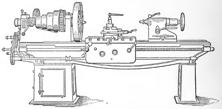 A 21-inch Lathe with the Parabolic Form of Bed. Designed by the Author