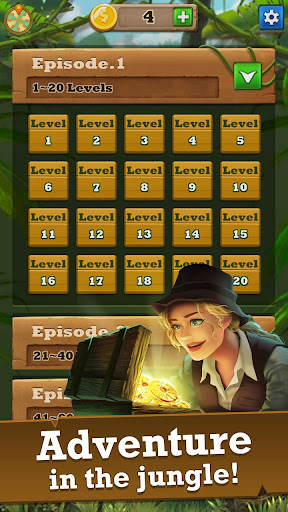 Jungle Gem Blast: Match 3 Jewel Crush Puzzles 4.2.5 screenshots 6