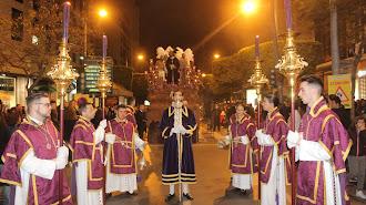 Cristo de la Sentencia, de la Hermandad de la Macarena, en Puerta de Purchena.