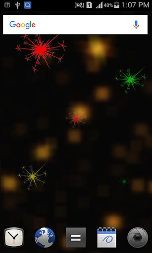 Christmas Fireworks LWP