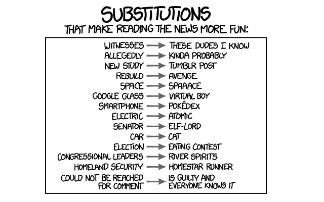 xkcd Substitutions Plus