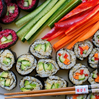 Veggie Sushi With Quinoa And Beet.