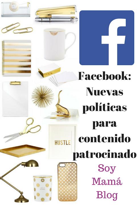 Facebook: Nuevas políticas para contenido patrocinado