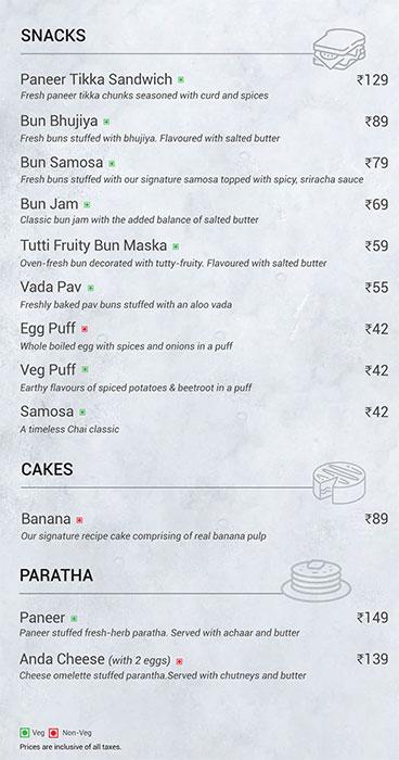 Chai Point menu 3