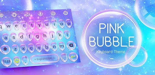 Pink Bubble Drop Keyboard Theme for PC