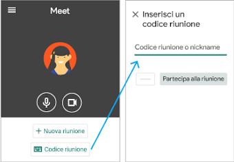Partecipare su un dispositivo mobile utilizzando un codice
