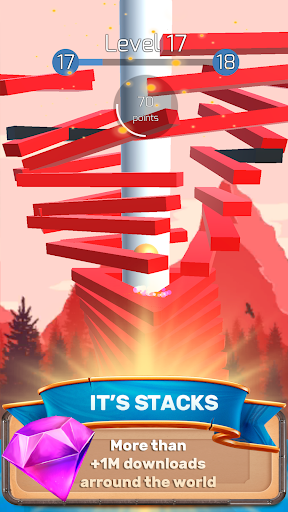 The Stack Tower : Fall game with 3d Ball ☄  captures d'écran 1