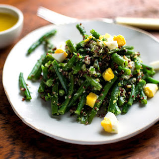 Green Bean Salad With Lime Vinaigrette and Red Quinoa