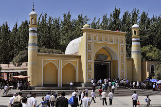 Photo: Kasgári mecset, Ujgúr mecset, Péczely Lajos, Kashgar, Xinjiang, Xinjiangi mohamedánok