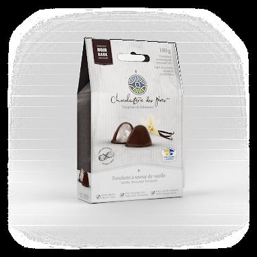 Chocolat Fondants à saveur de vanille enrobés de chocolat noir Boîtes maison